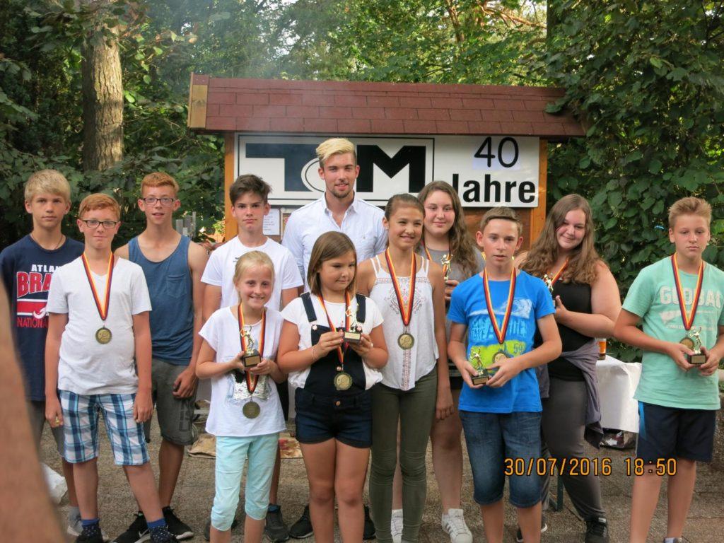 Bericht Jugendvereinsmeisterschaften 2016